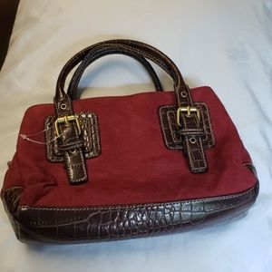Handbags - Handbag Purse Clutch Burgundy Crossbody Mini Tote